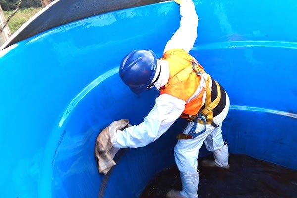 Limpeza da caixa d'água
